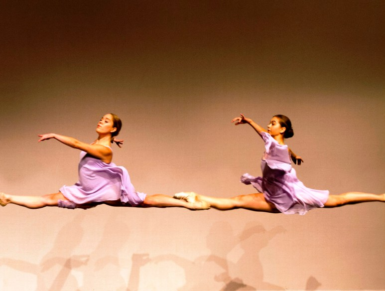 Jane and Chloe leaping edited foot